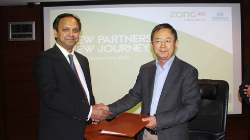 Daewoo express partners with zong